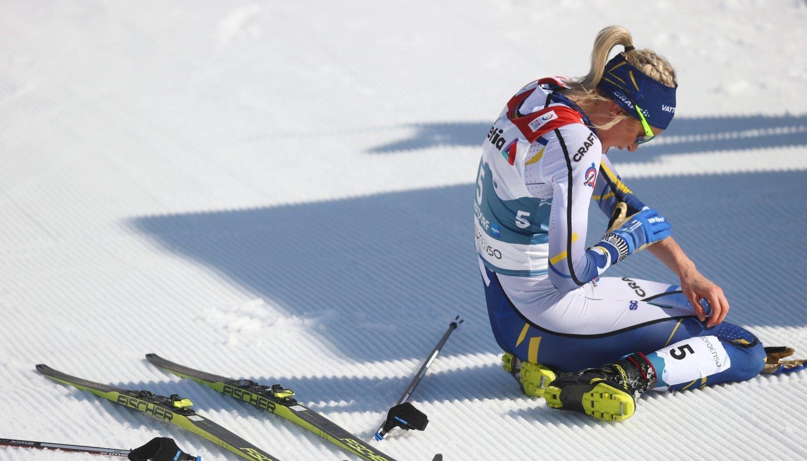 Frida Karlsson oli pärast MM-i 30 km sõitu küpse, aga peab distantsi lühikeseks.