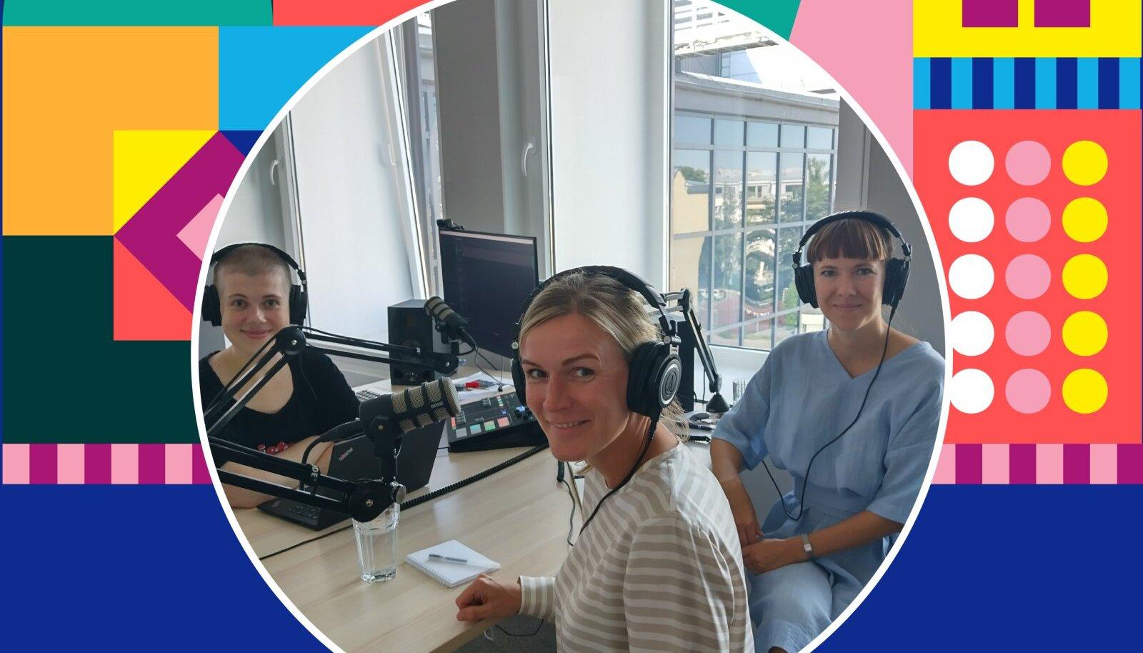 Saatejuht Sabina Sägi (vasakult), Vivita juht Mari-Liis Lind ja Tagasi Kooli juht Teibi Torm.