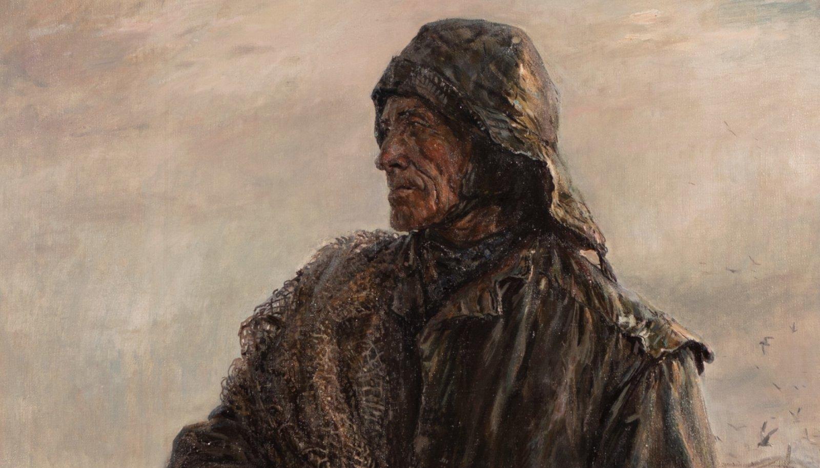 """Evald Okase õlimaal """"Vana kalur"""" (1955)"""