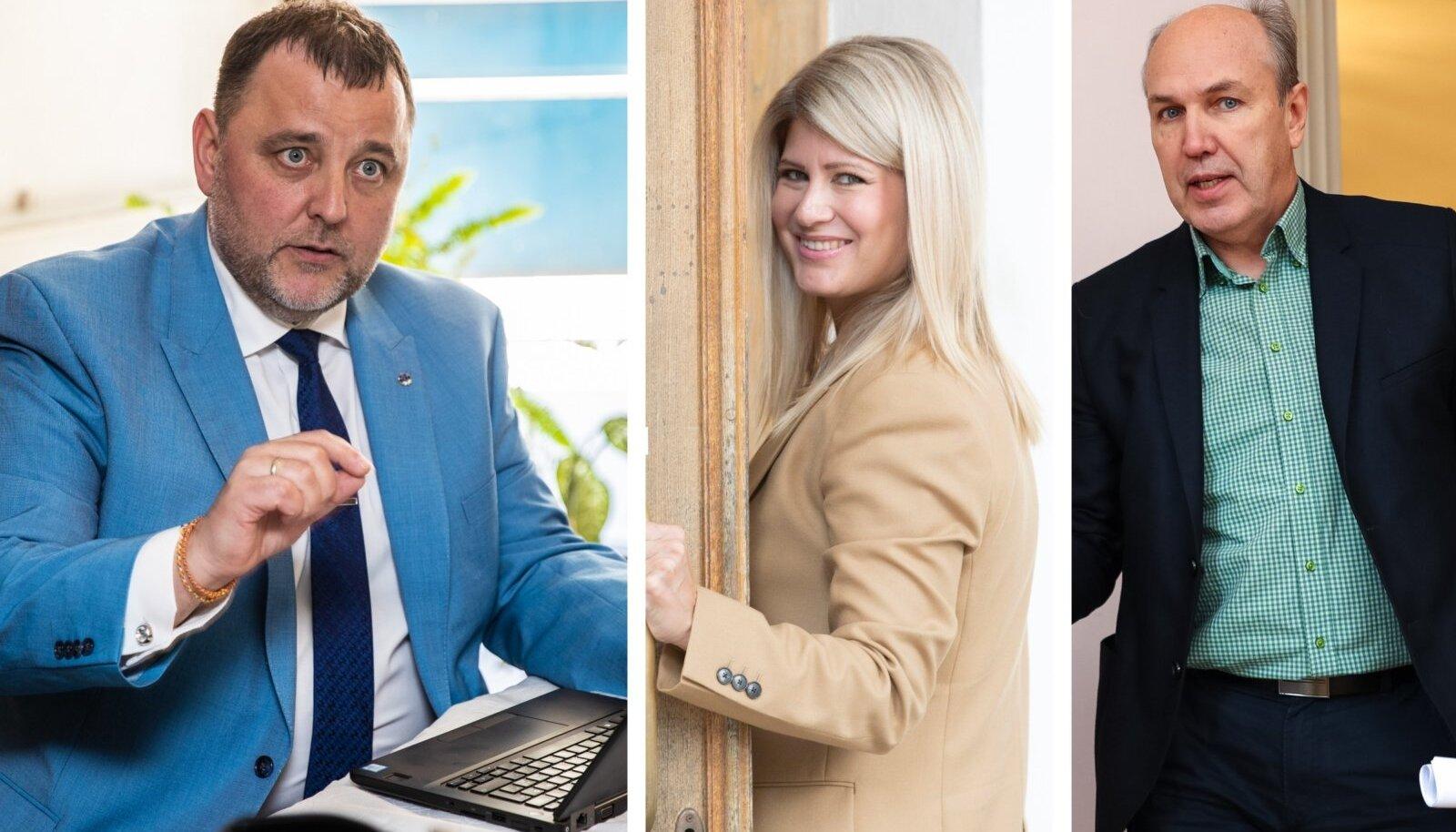 Vasakult: Isamaa saadikud Sven Sester, Viktoria Ladõnskaja-Kubits ja Aivar Kokk