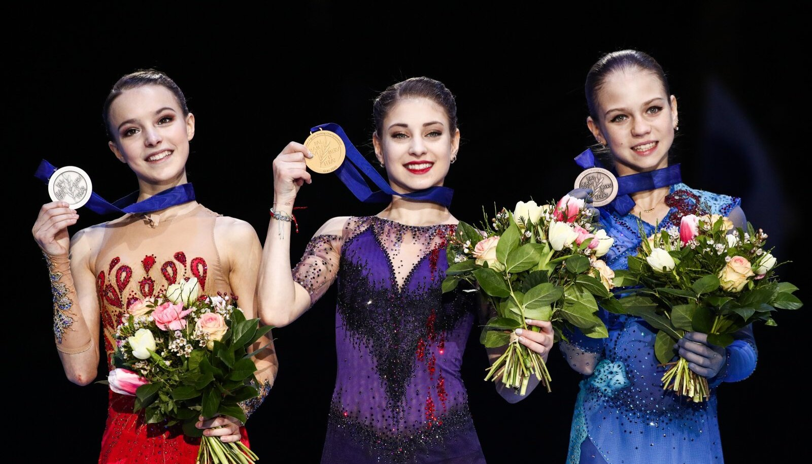 2020 European Figure Skating Championships: victory ceremony