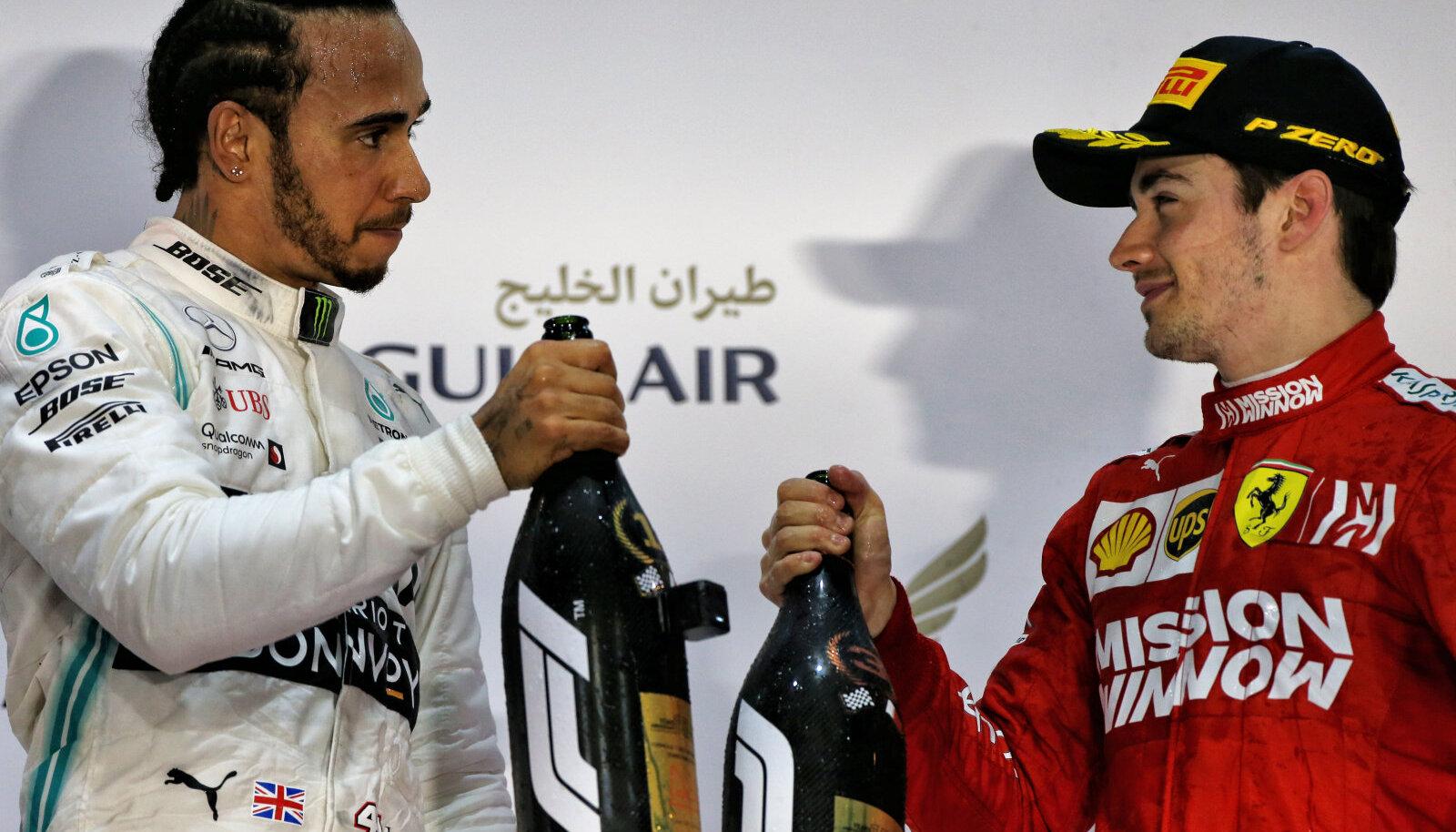 Lewis Hamilton ja Charles Leclerc