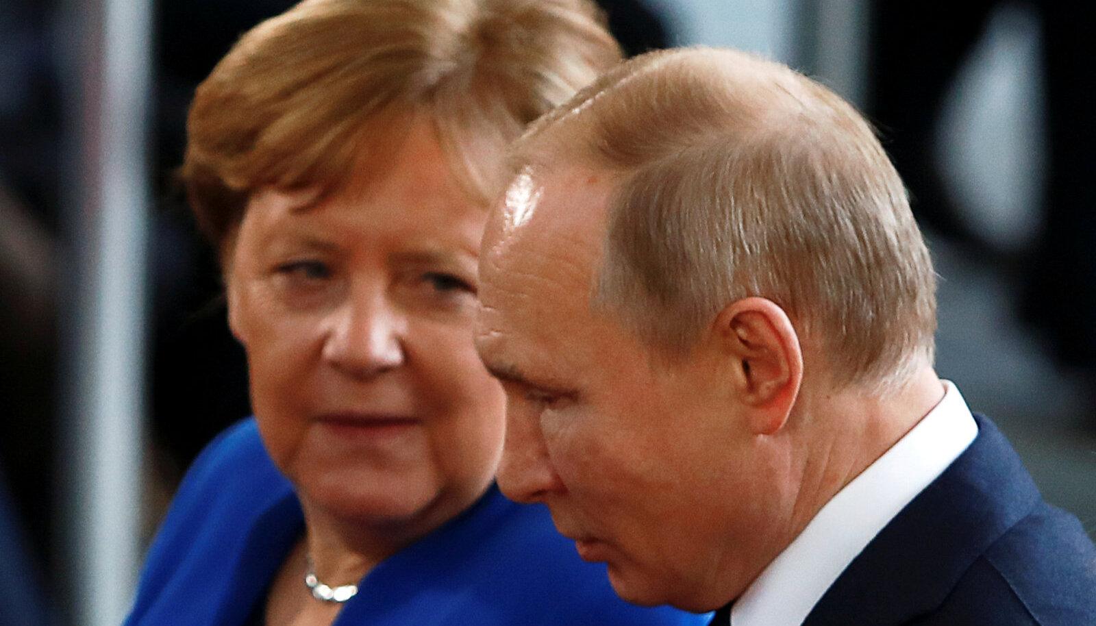 Angela Merkel ja Vladimir Putin jaanuaris Berliinis