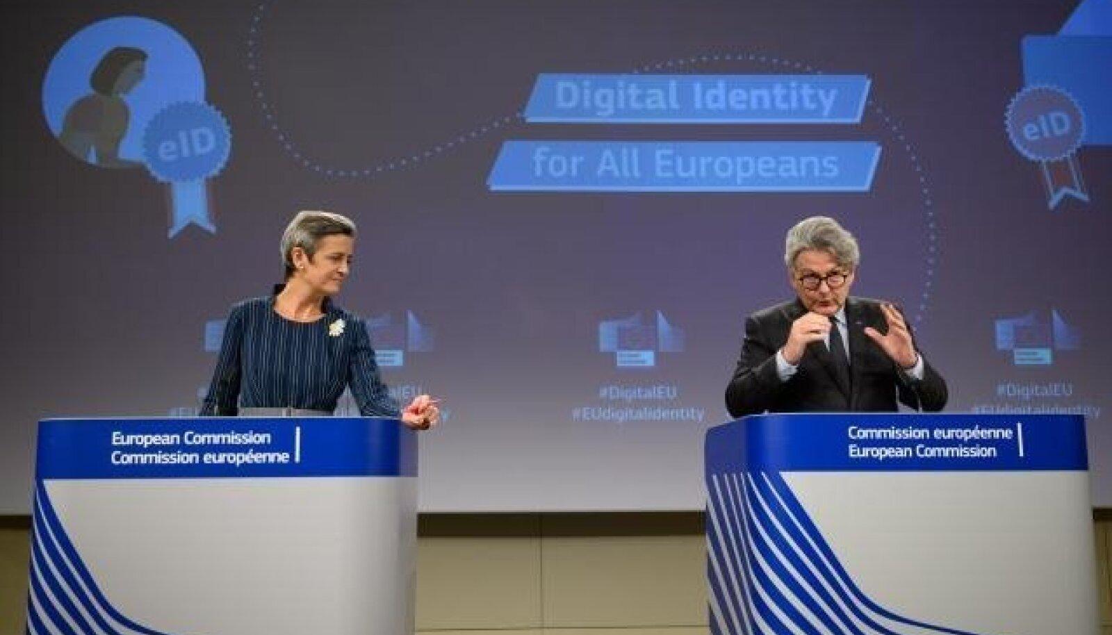 Margrethe Vestager ja Thierry Breton tutvustavad plaani