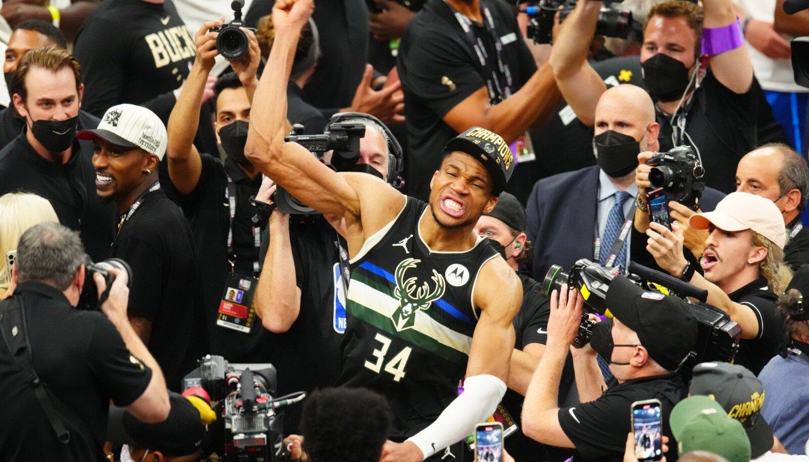 Giannis Antetokounmpo on võitnud palju individuaalseid auhindu. Nüüd tüüris ta Milwaukee Bucksi ka NBA tšempioniks.