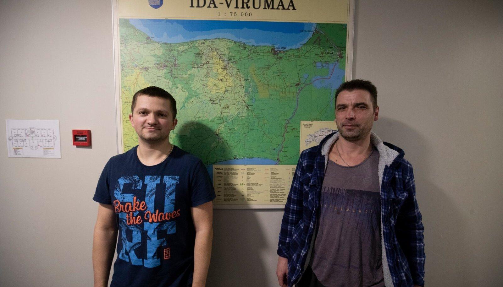 Юрий (справа) родом из Харьковской области, Александр из Борисова.