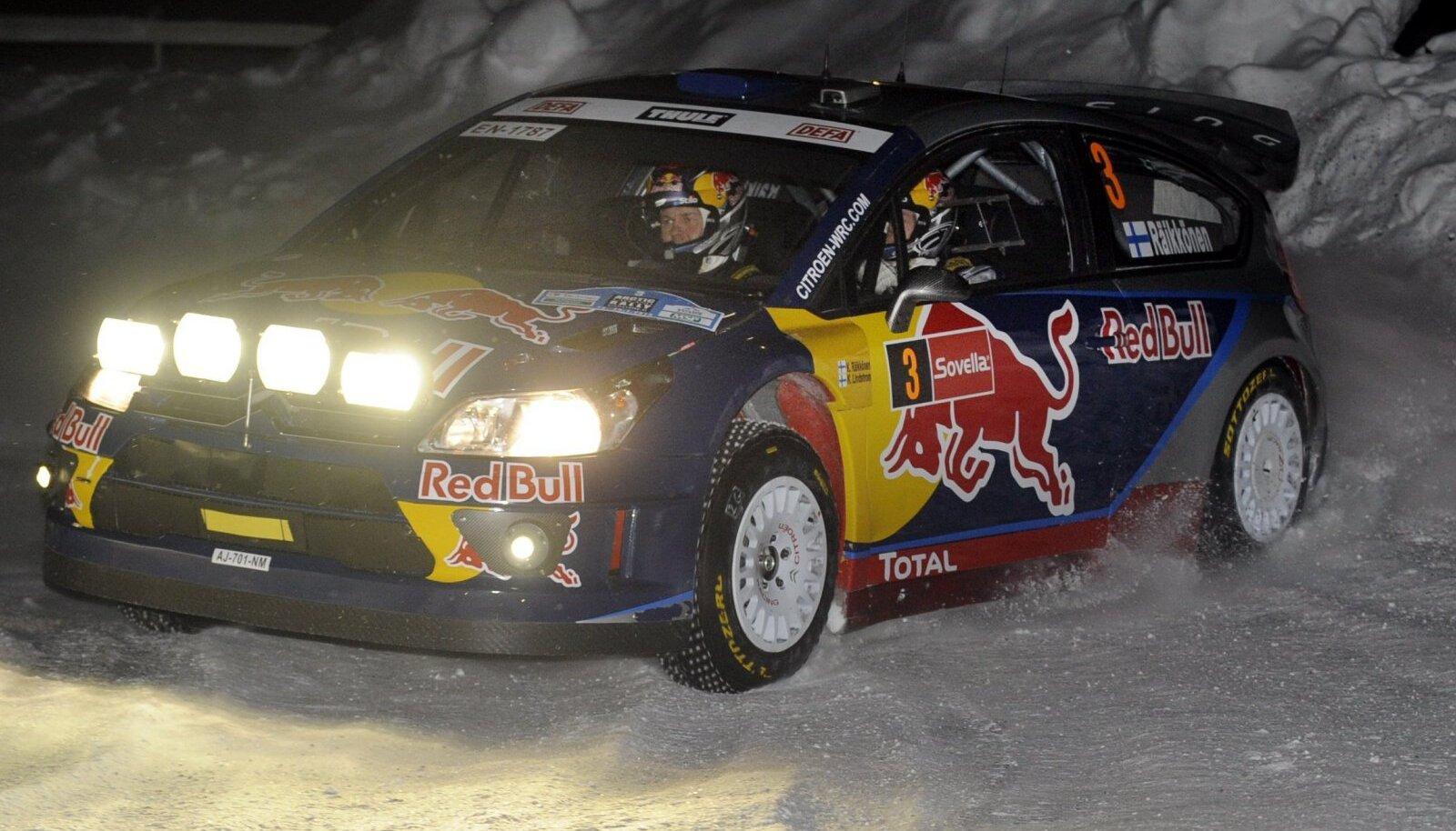 Kimi Räikkönen 2010. aastal Arctic Lapland Rallyl.