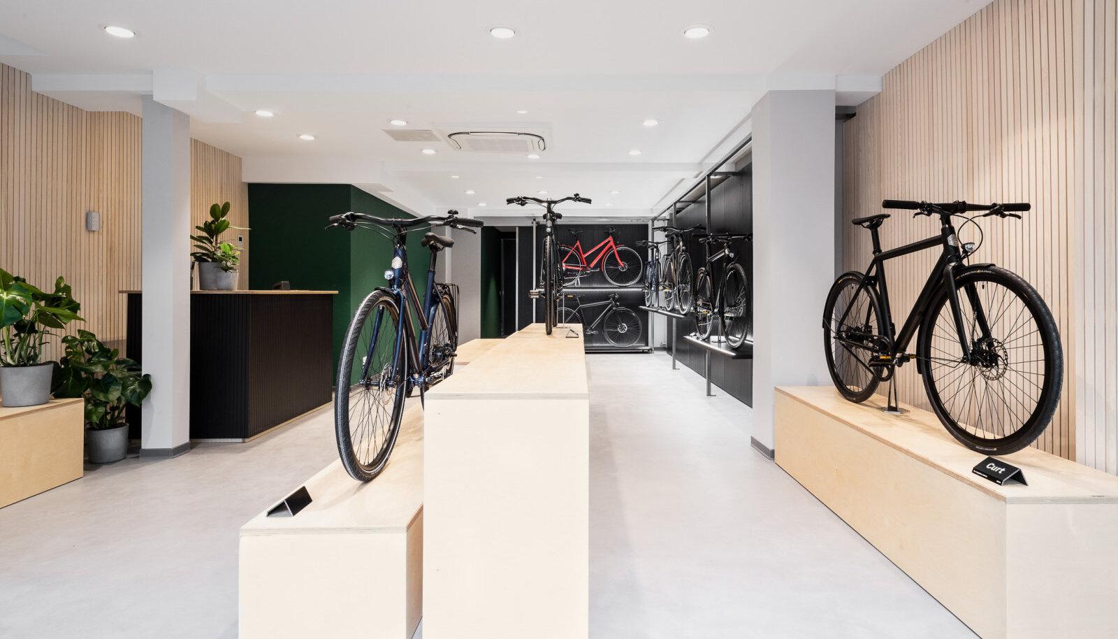 Selline näeb välja Ampler Bikes'I Kölnis asuv showroom.