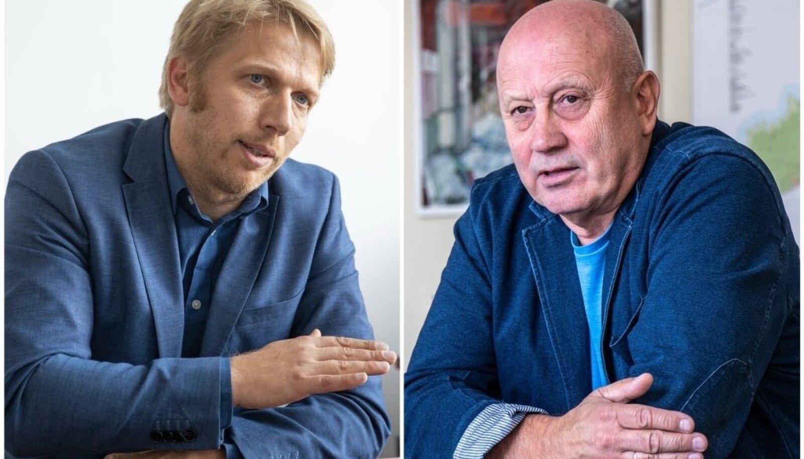 Volikogu esimees Jaanus Karilaid ja linnapea Urmas Sukles saavad omavahel väga hästi läbi. Poliitilised konkurendid tahavad linna juhtivat tandemit laiali ajada.
