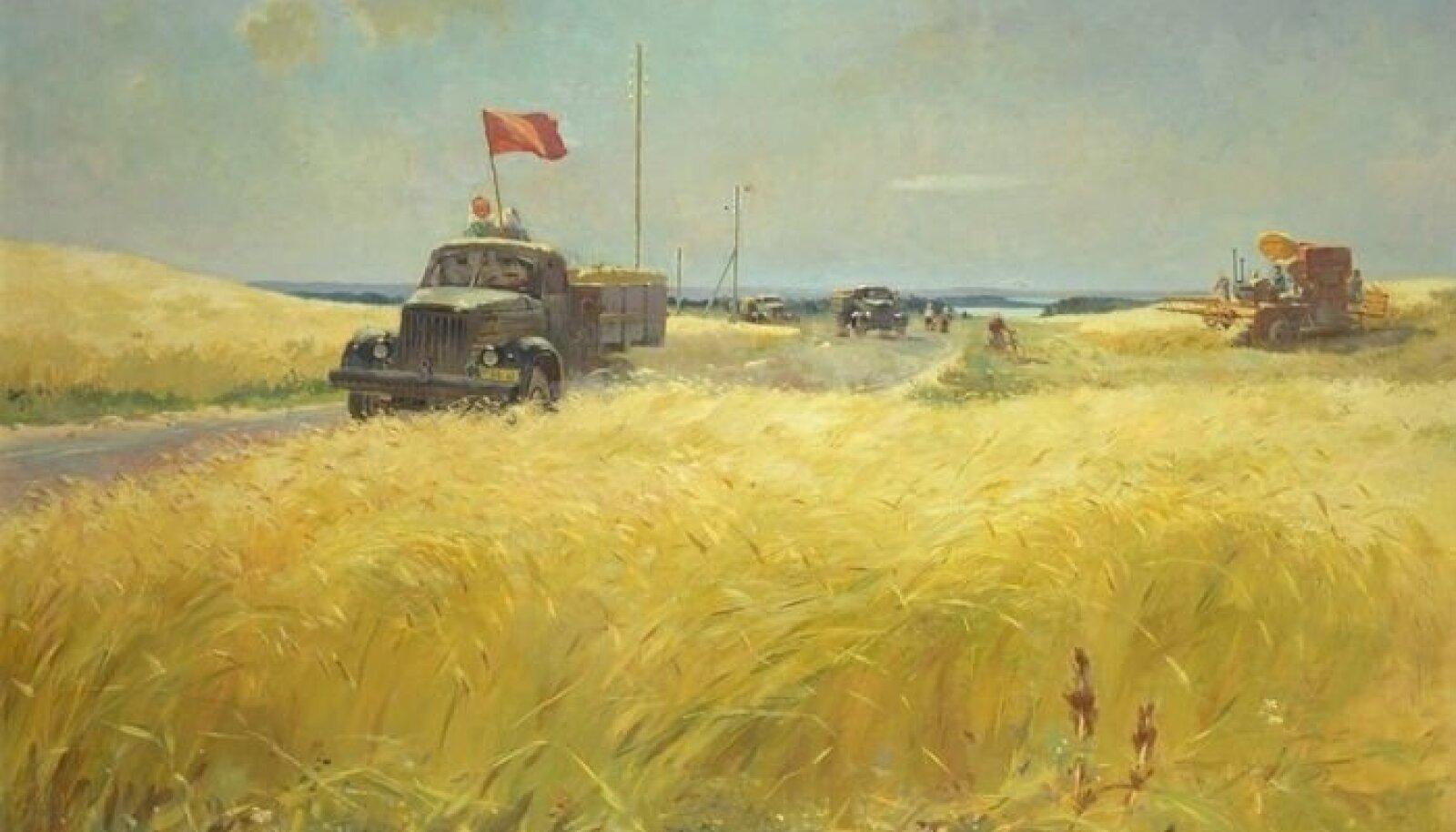 Viktor Karrus (1913–1991). Vilja riigile. 1953. Õli, lõuend