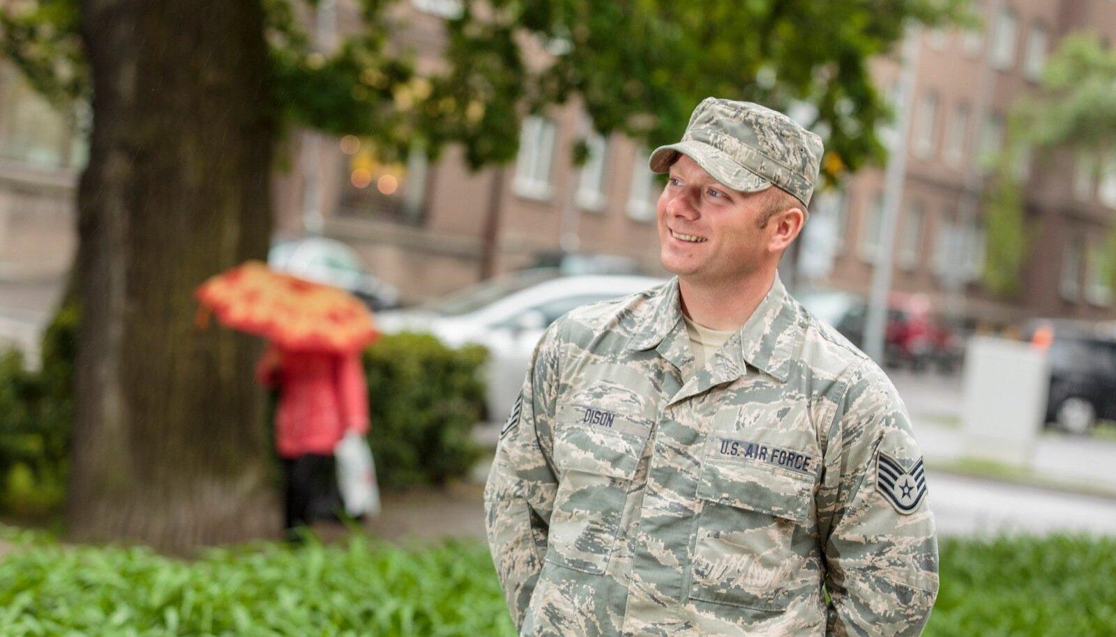 Ameerika sõjaväelane Michael Dison jõudis õppuste ajal käia ka Rakveres, mis on suhteliselt lähedal tema vanaisa tõenäolisele kodukandile.