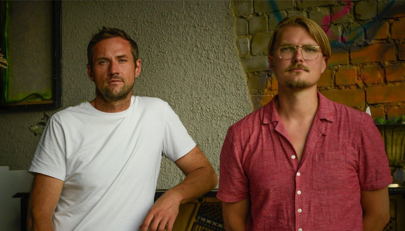 Kristo Kaljuvee (vasakul) ja Sten Õitspuu on kaks kolmest Pärnu loovlinnaku projekti eestvedajast.