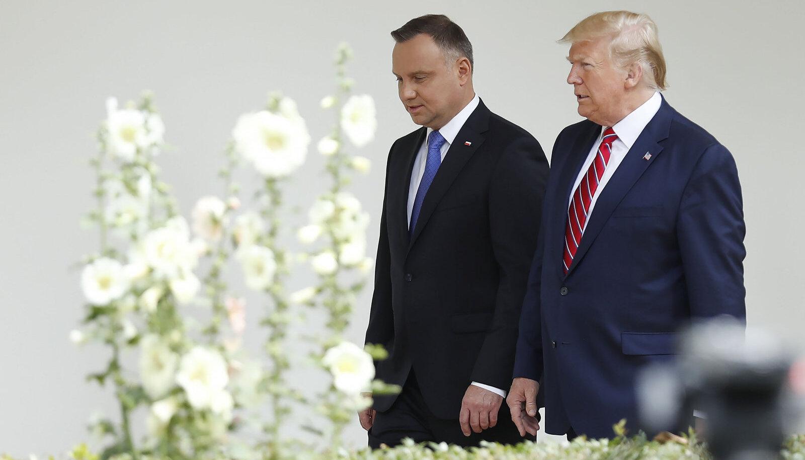 Andrzej Duda ja Donald Trump mullu Valges Majas