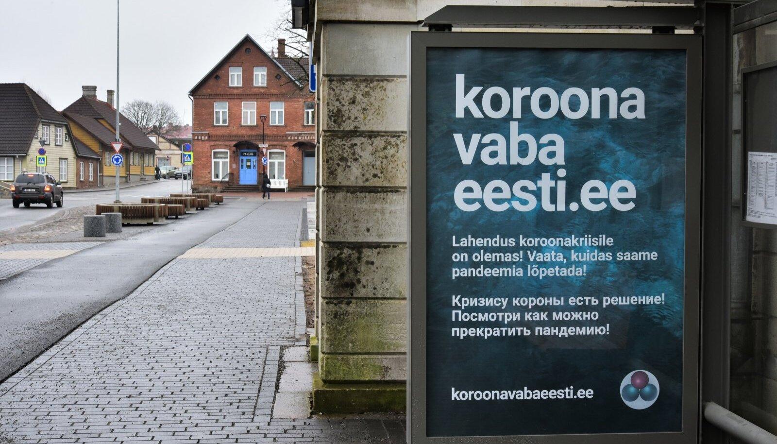 Viljandi bussipeatustes reklaamitakse koroonaviiruse raviks kloordioksiidi ehk MMS-i