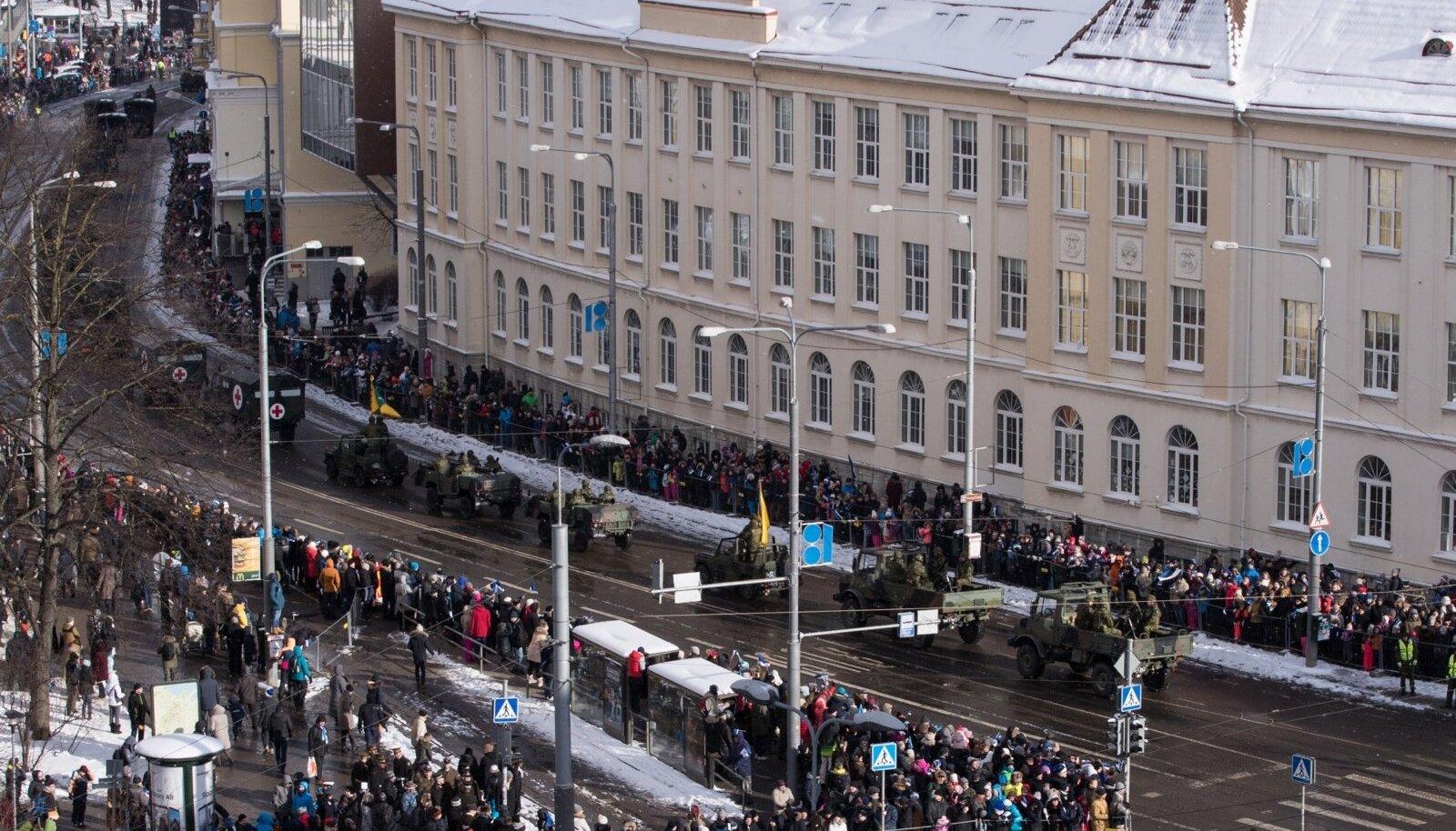 Vabariigi aastapäeva paraad mullu 24. veebruaril