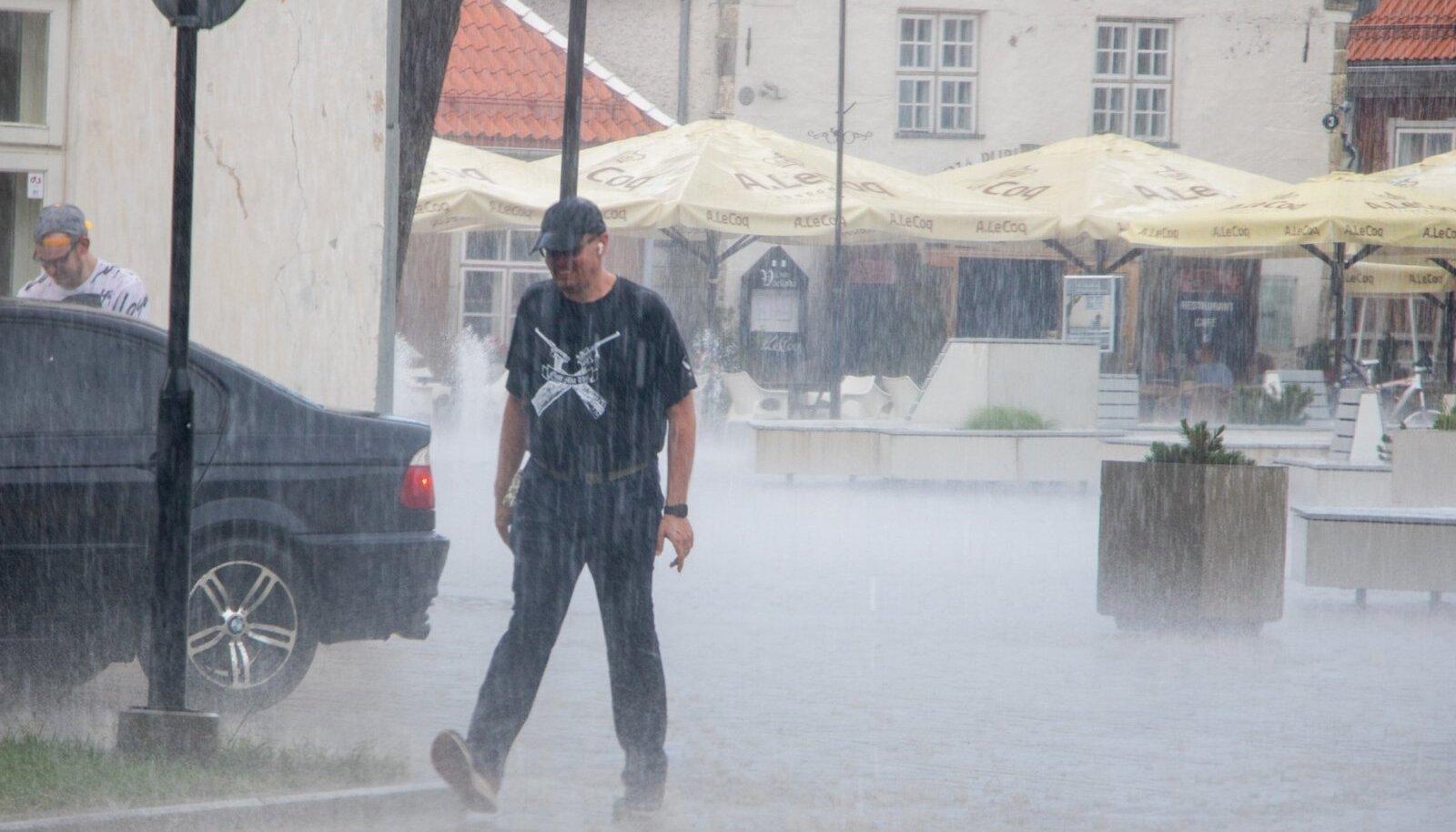 Kuressaares kallas korralikult vihma