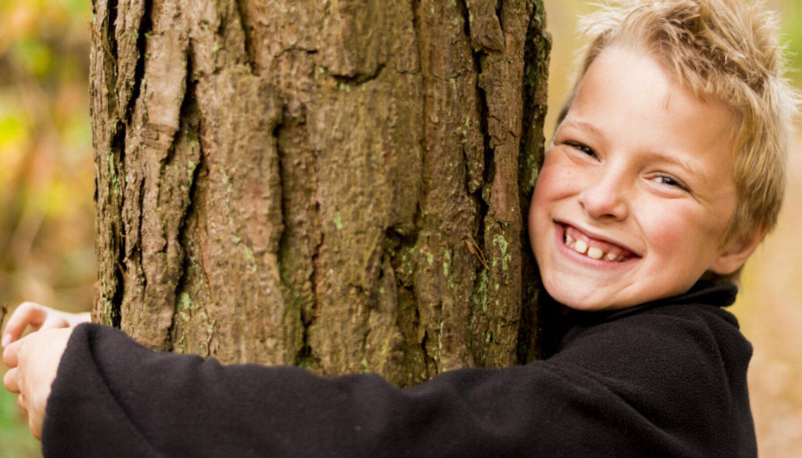 Lapsed teavad hästi, et puud ja loodus mõjuvad inimesele tervistavalt