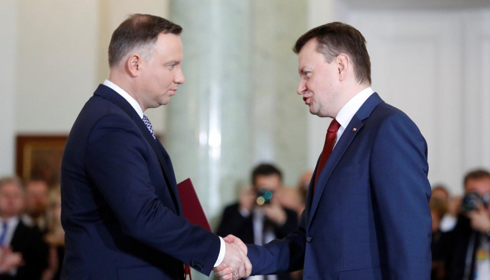 Andrzej Duda ja Mariusz Błaszczak