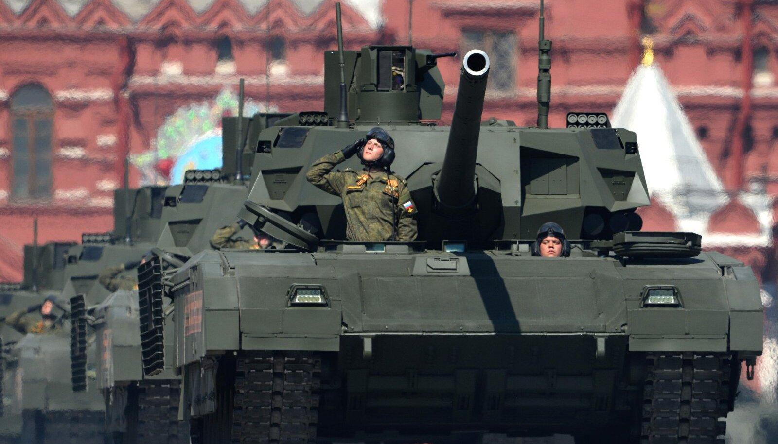 T-14 Armata tankidest teame seda, et üks neist seiskus Moskva paraadi peaproovil.