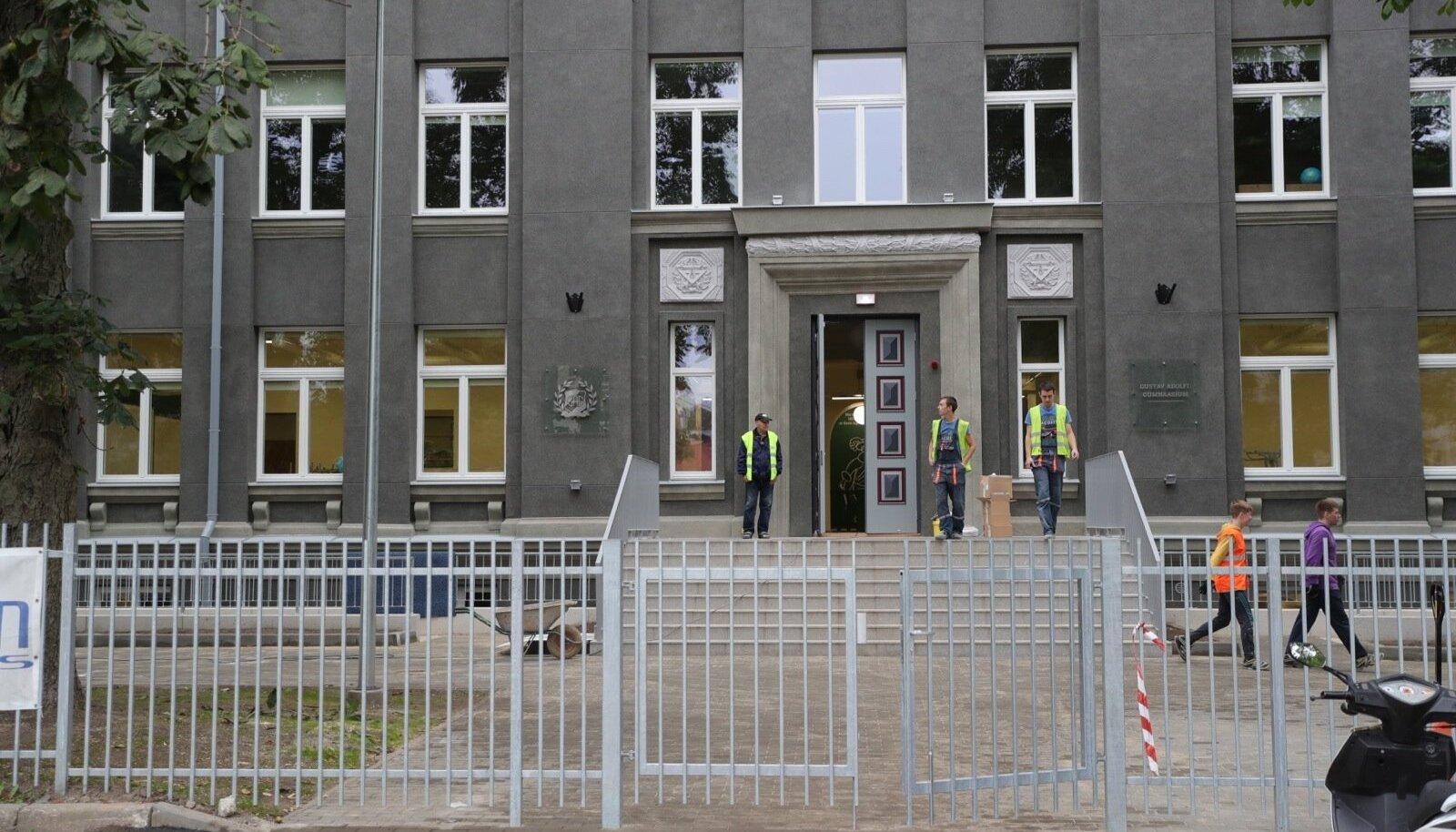 GAG-i väiksemate klasside uus maja 2. septembril.