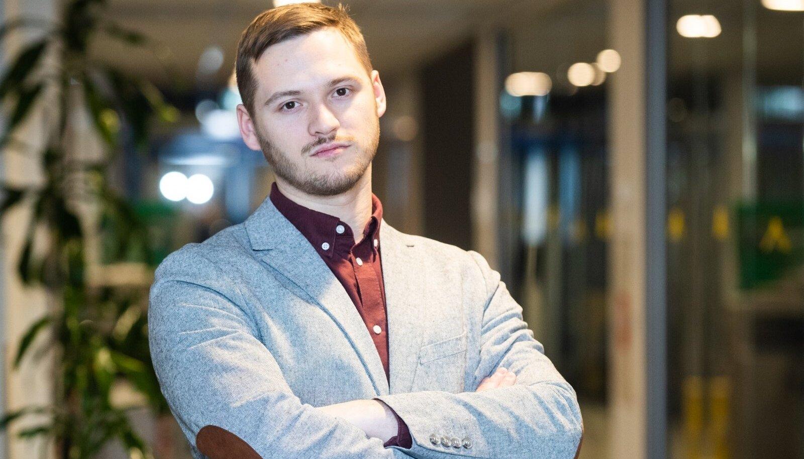 Eesti Päevalehe ajakirjanik Joosep Tiks.