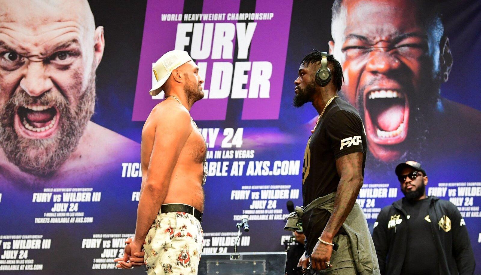 Tyson Fury (vasakul) ja Deontay Wilder lähevad 24. juulil vastamisi kolmandat korda.