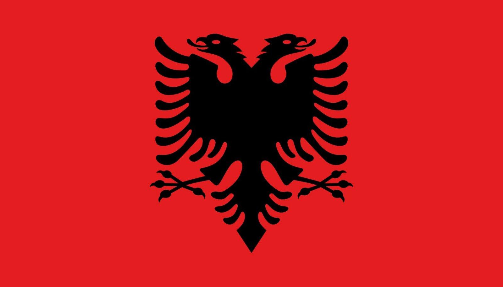Albaania lipp