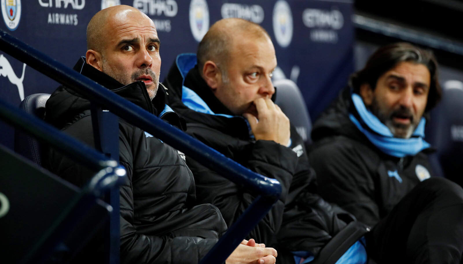 Pep Guardiola (vasakul)
