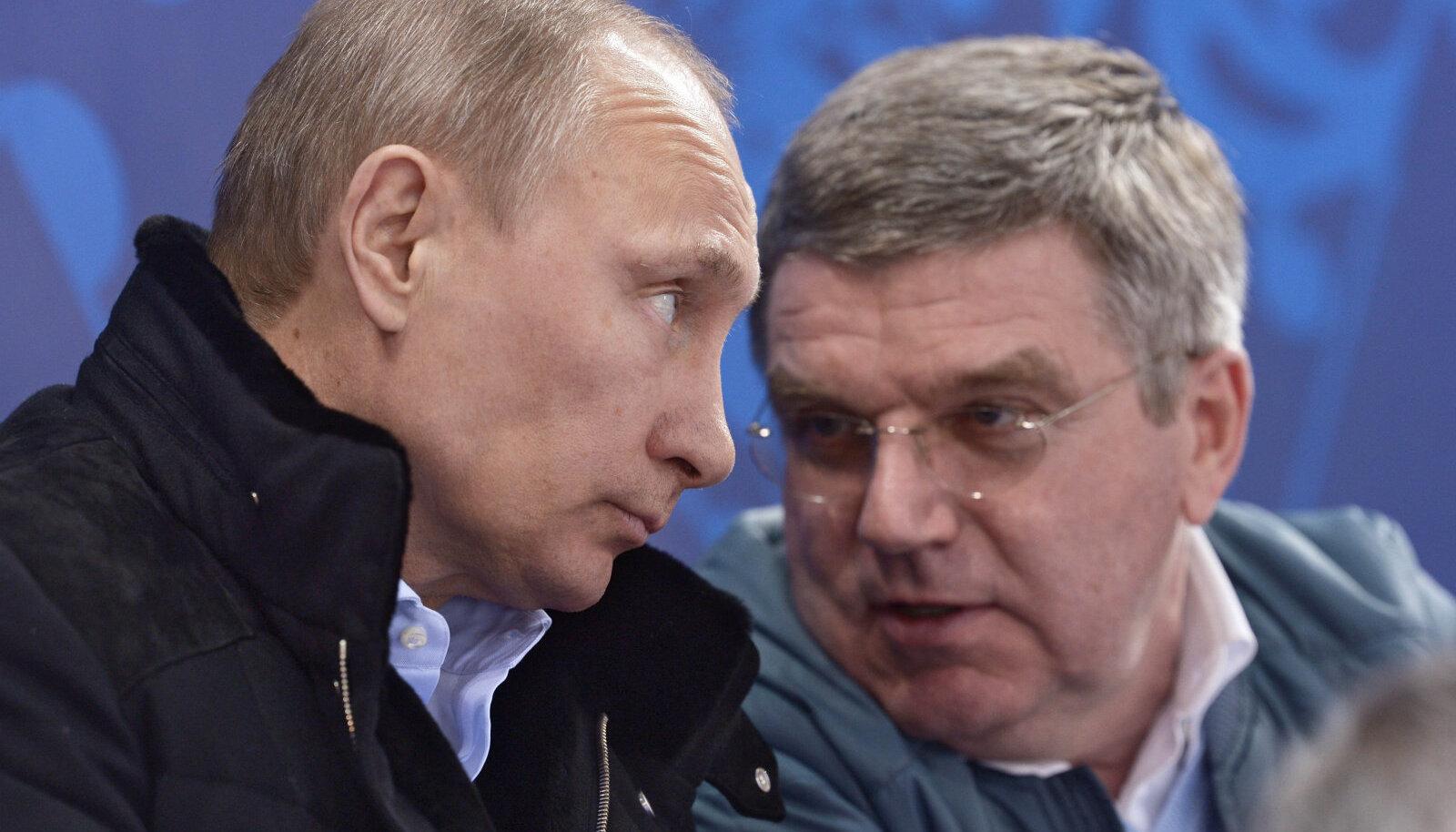 Vladimir Putin ja Thomas Bach 2014. aastal.