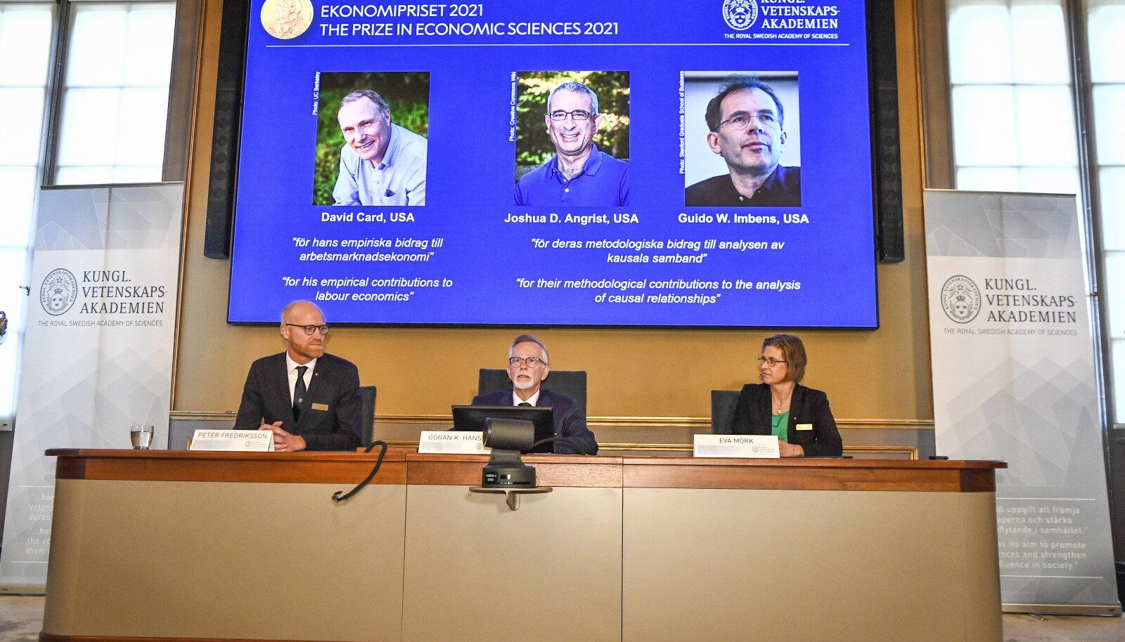 Sveriges Riksbanki majandusteaduste auhinna väljakuulutamine