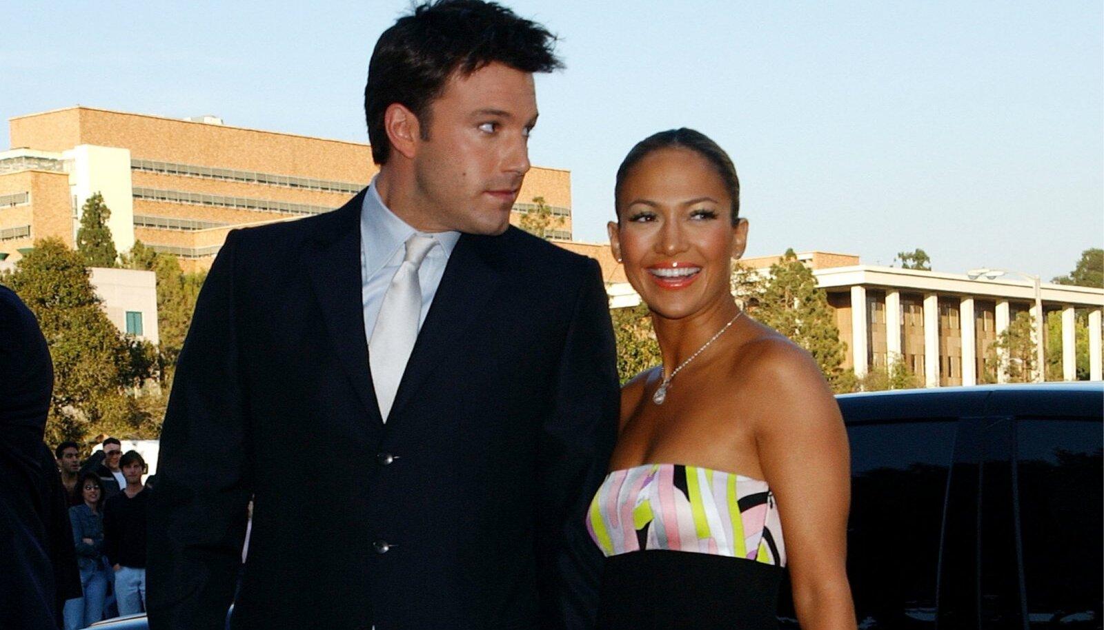 Ben Affleck and Jennifer Lopez file photos