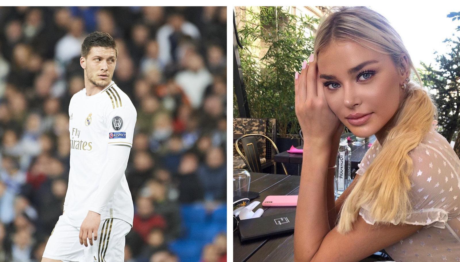 Luka Jovic ja tema tüdruksõber Sophia Milosevic.