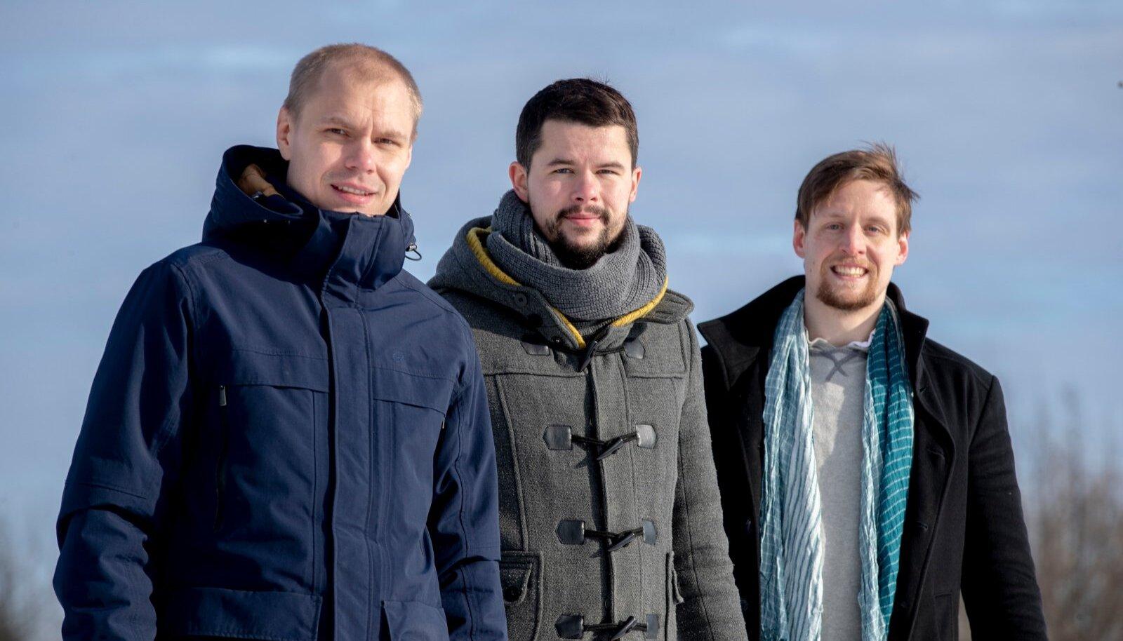 Producementi asutajad (vasakult) Maido Käära, Erko Risthein ja Jordan Valdma olid TransferWise'ist lahkudes oma tuleviku küll rahaliselt kindlustanud, kuid otsustasid palmi alla pikutama mitte minna.