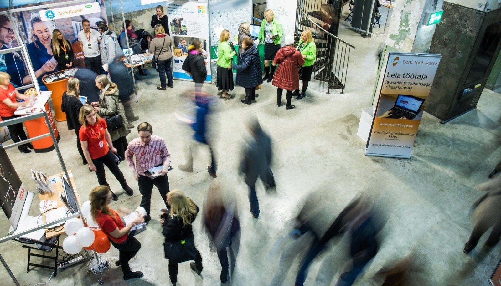 Töötukassa töö- ja karjäärimess Tallinnas Kultuurikatlas