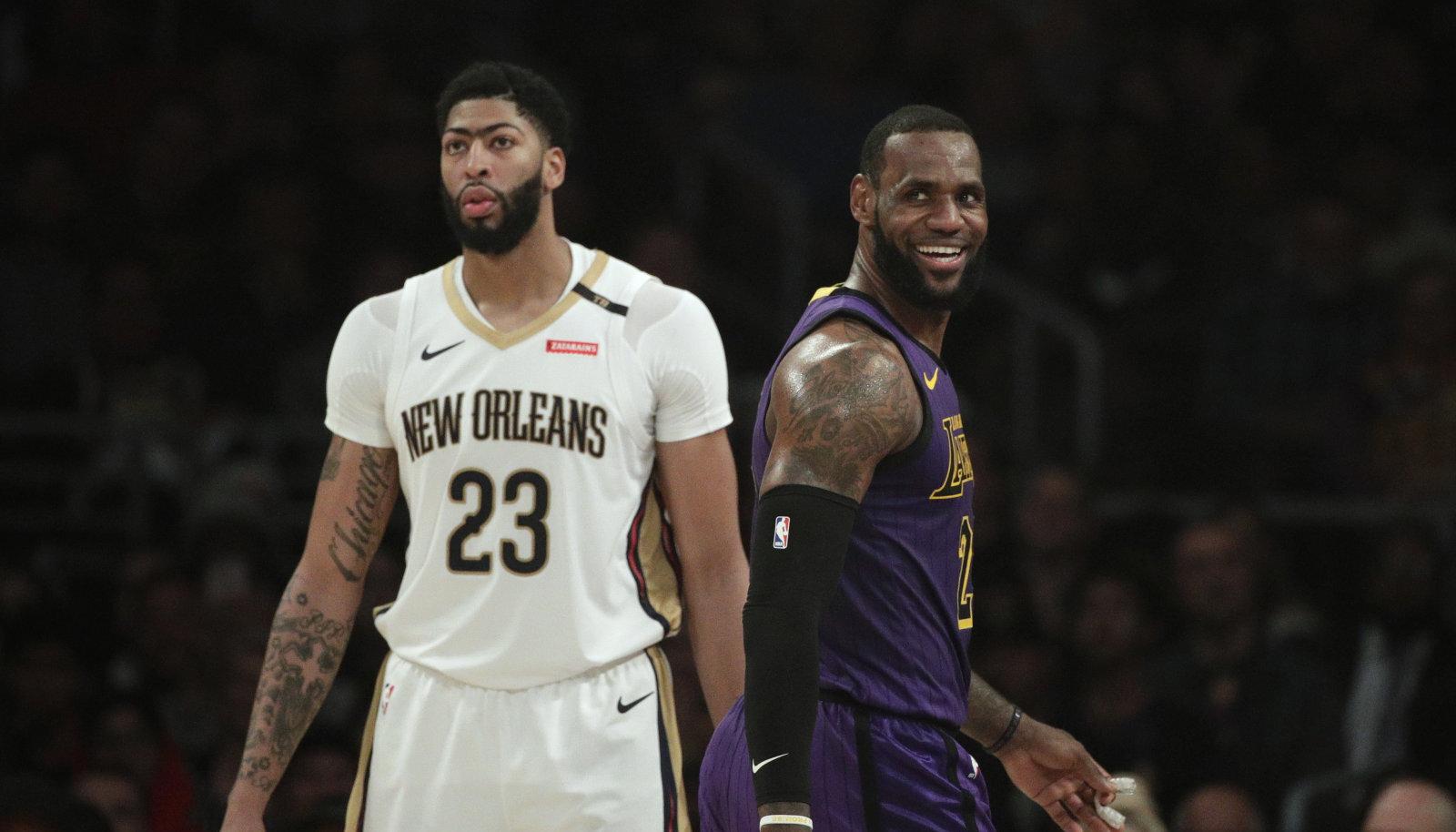 Anthony Davis ja LeBron James on nüüdsest tiimikaaslased