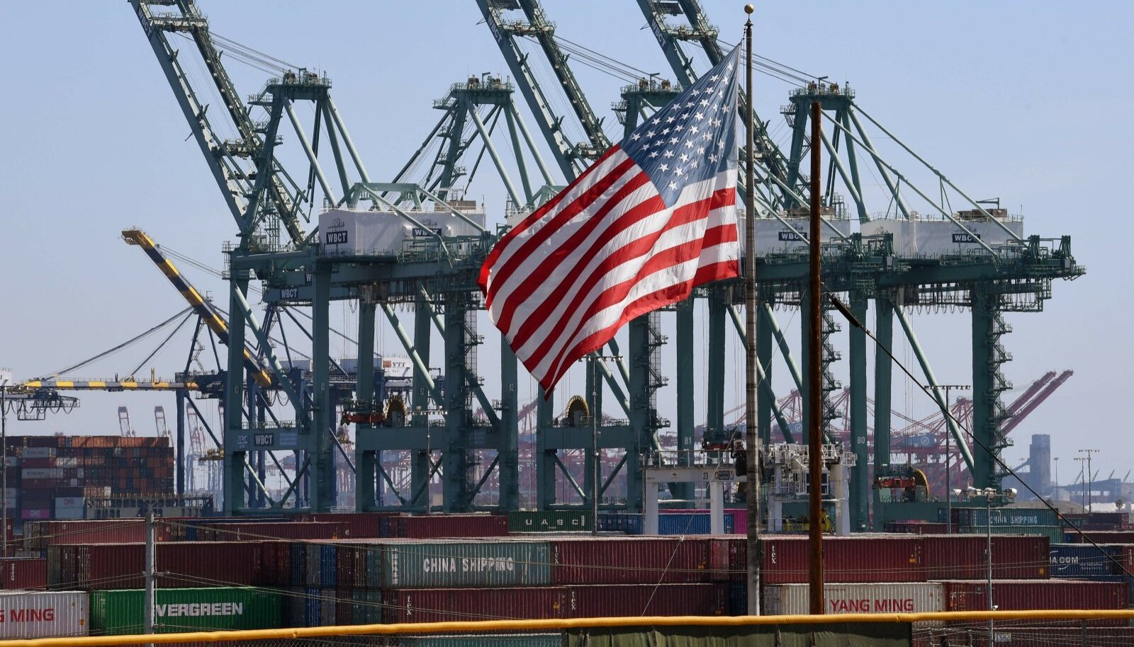 Hiina merekonteinerid Los Angelese Long Beachi sadamas.