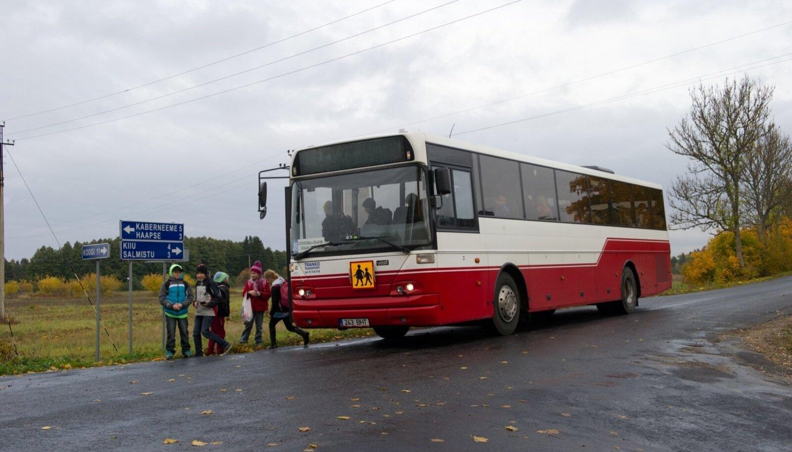 Koolibuss. Foto on illustratiivne