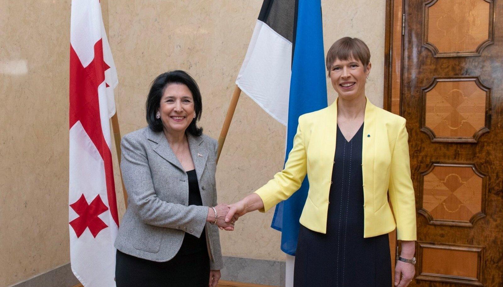 Gruusia president külastas Eestit.