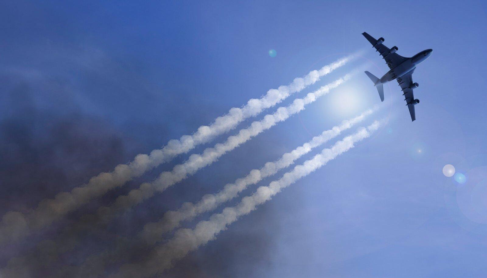 KEEMIASABAD TAEVAS: Levinud vandenõuteooria järgi on lennukite kondensjälg tegelikult kogum keemia- ja biorelvi, mille abil juhitakse inimkonda.