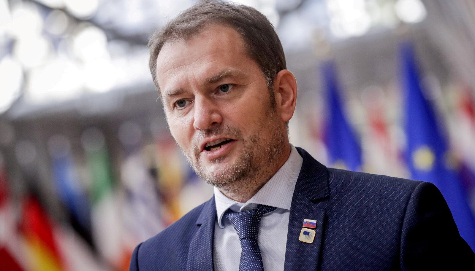 Slovakkia peaminister Igor Matovič.