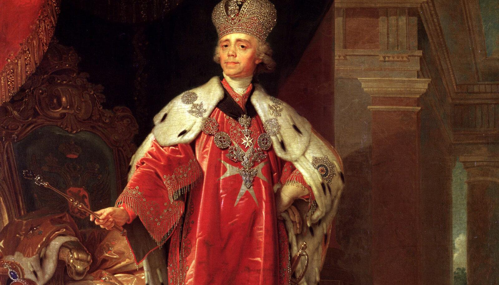 Vladimir Borovikovski maalitud Paul I.
