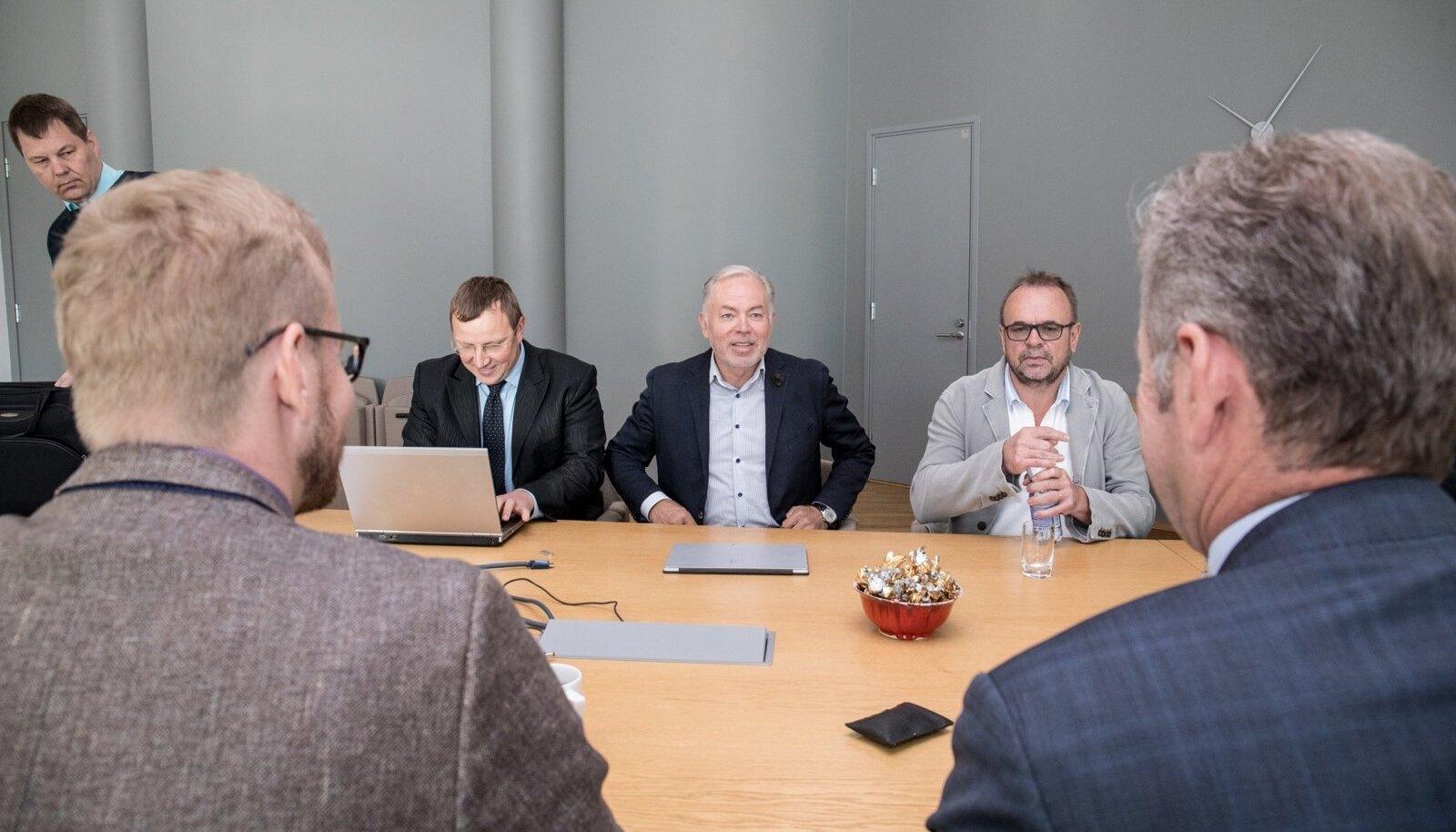 Lääne Raudtee esindajad Eesti Raudtee nõukogu ja juhatusega kohtumas