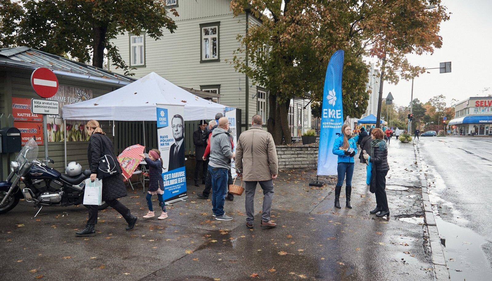 EKRE valimistulemus võib Tallinnas olla palju parem, kui oodatakse. Partei kõige nimekamad esindajad kandideerivad seekord just pealinnas.