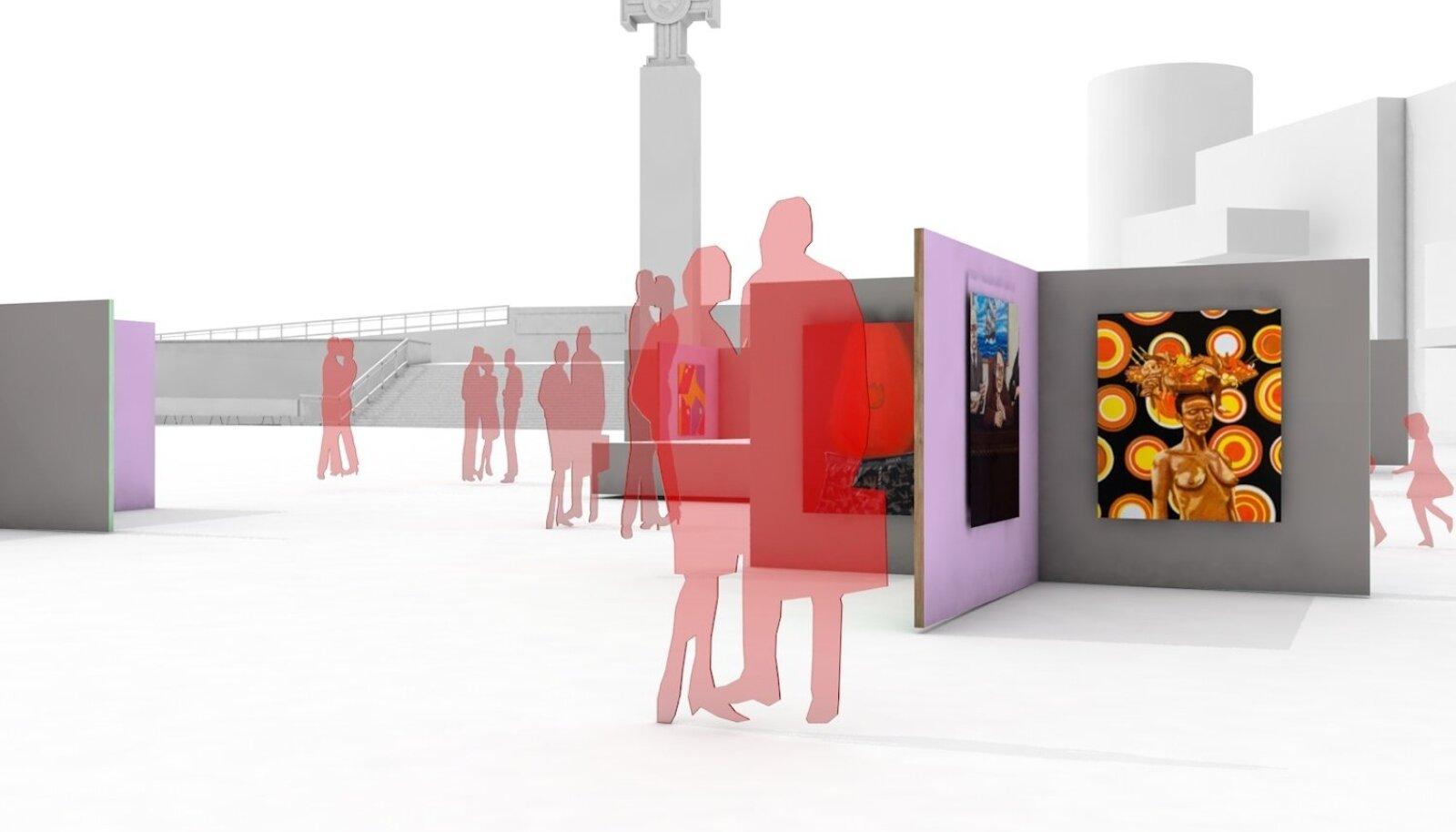 VABADUSE VÄLJAK TALLINN ART WEEKI AJAL: KUU Arhitektide ja Eesti Kunstiakadeemia koostöös sündiva arhitektuurilahenduse abil muutub Vabaduse väljak 11. juunil kunstiväljakuks.