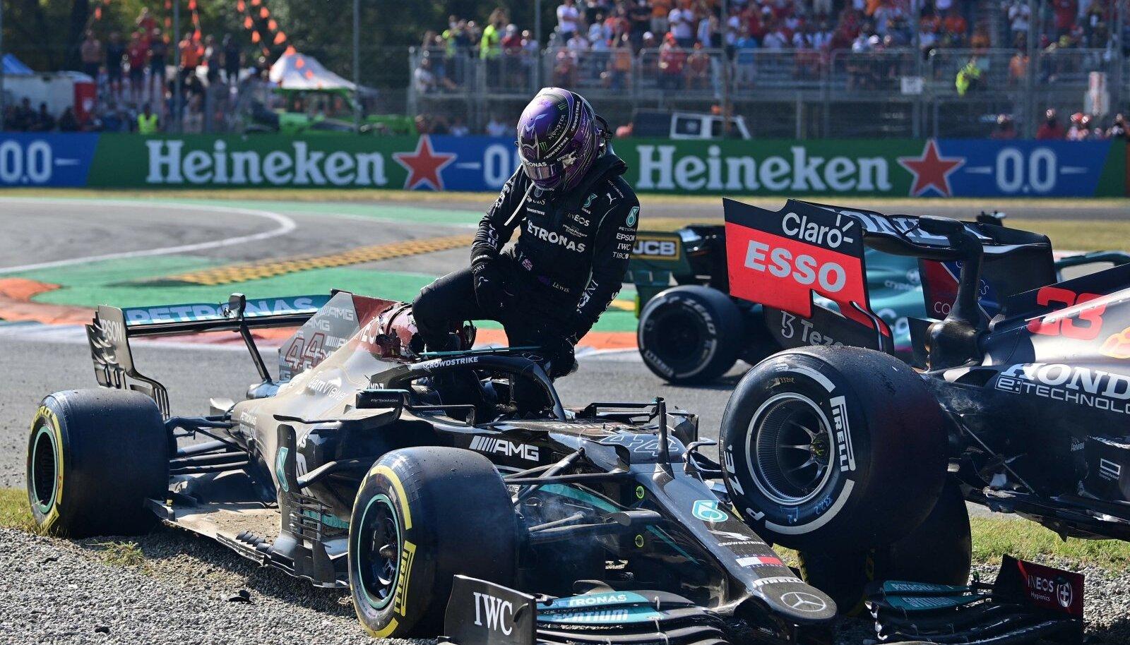 Lewis Hamiltoni ja Max Verstappeni võistlus lõppes niimoodi.