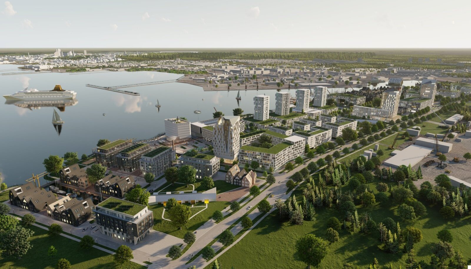 Täiesti uut linnaruumi ongi võimalik teha ainult Paljassaare sadama ümber, kus praegu on täielik brownfield ehk uut funktsiooni otsiv tööstusmaastik