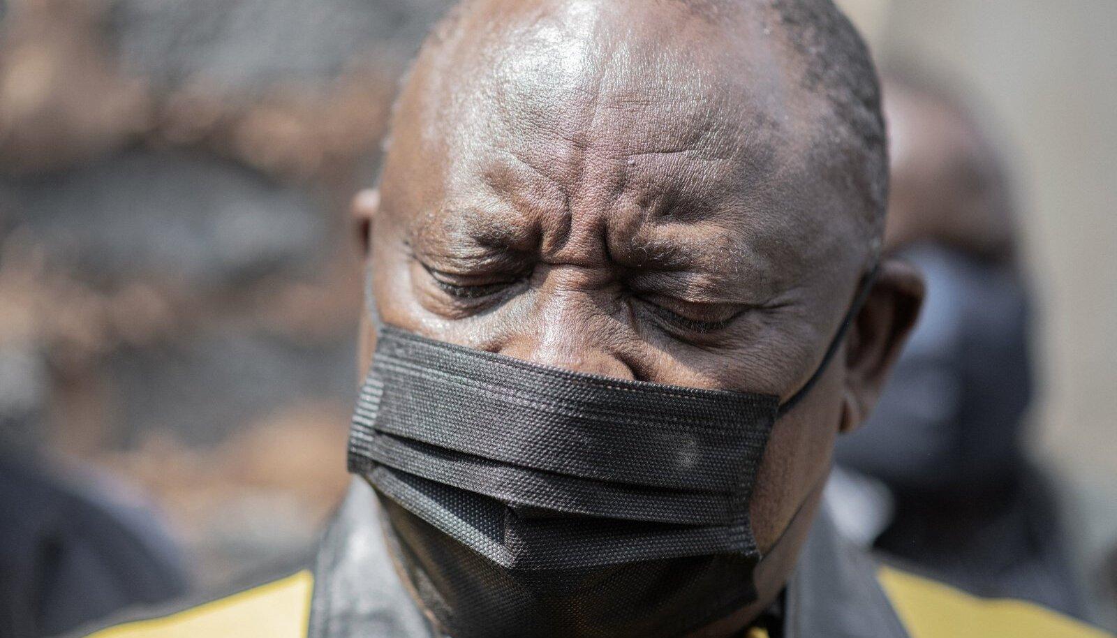 Linnapeaga kampaaniat teinud president Cyril Ramaphosa 18. septembril Sowetos