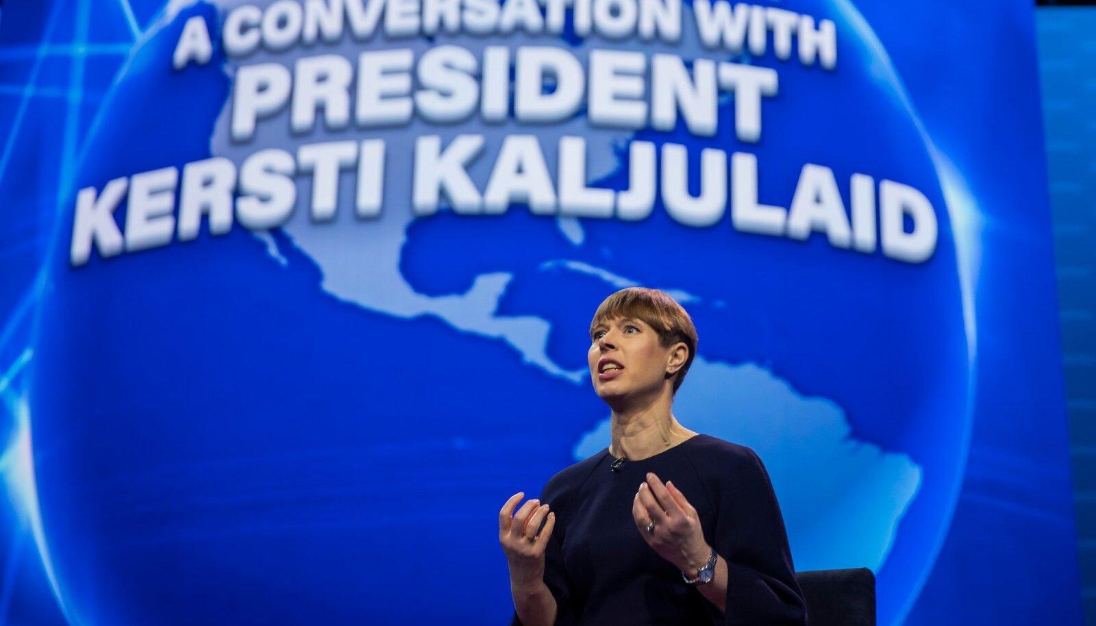 DIGI- JA KÜBERTEEMAD: president esinemas mõjuka Ameerika-Iisraeli Avalike Suhete Komitee (AIPAC) konverentsil 12 000 inimesele märtsis 2020