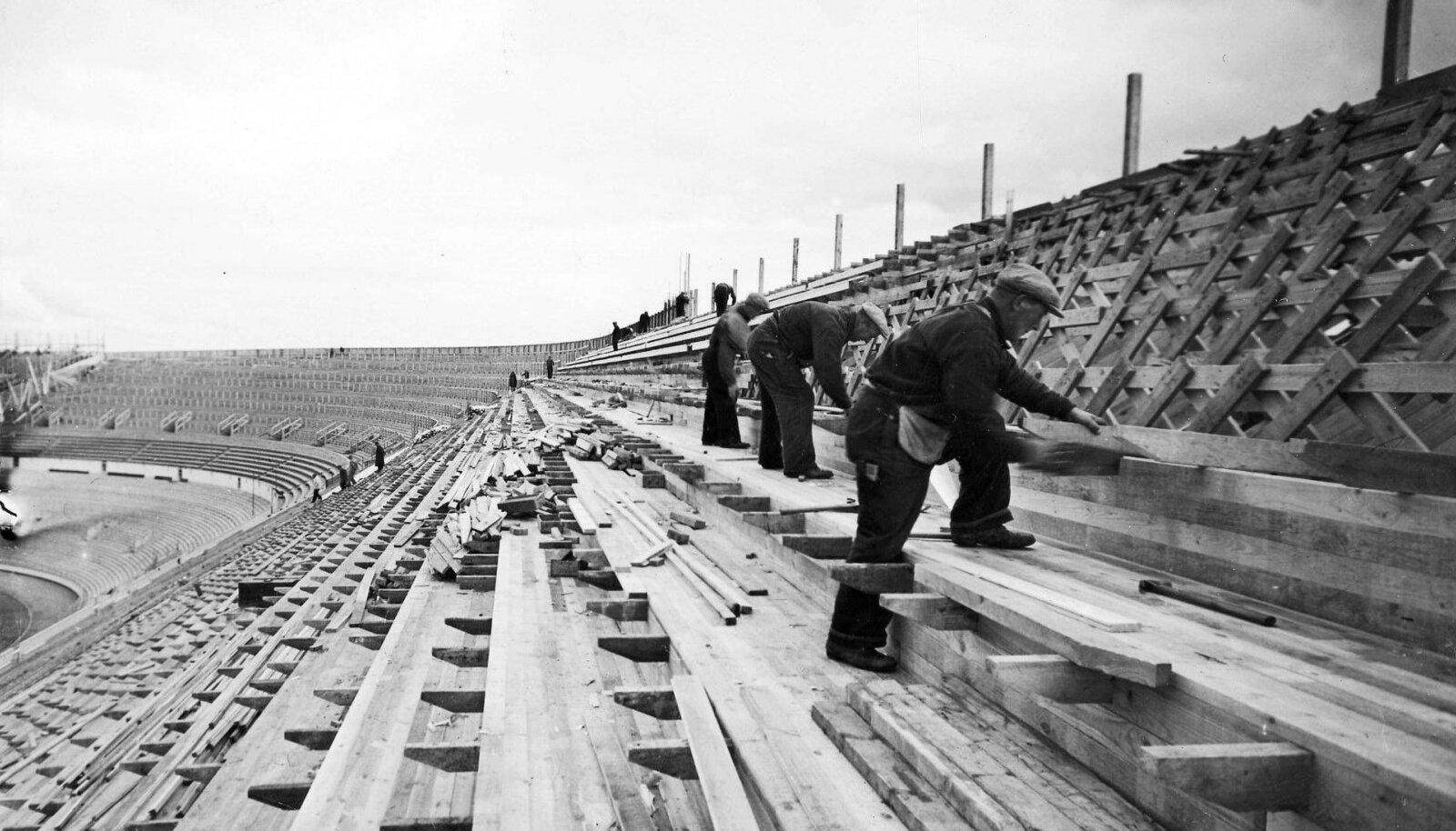 SOOME SUURIM SPORDIAREEN: Helsingi olümpia-staadioni ehitus kestis neli aastat, 1934–1938.