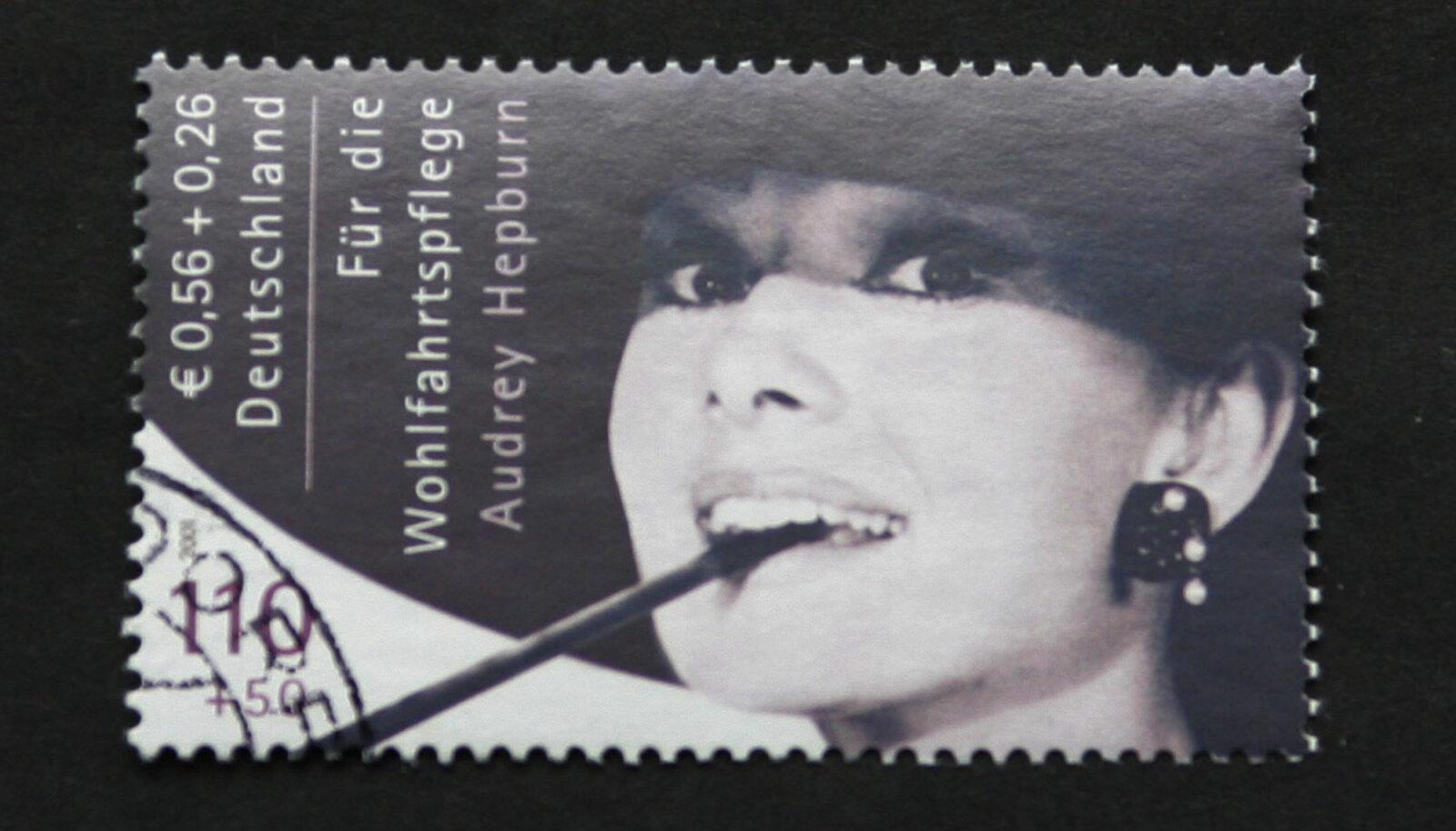Haruldane Audrey Hepburni postmark